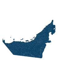 Mapa hydrologiczna zjednoczonych emiratów arabskich