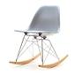 Krzesło bujane na taras tunis swing szare