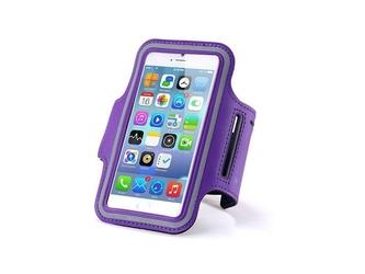 Etui na ramię sportowe do biegania na telefon do 5.5 cala fioletowe - fioletowy