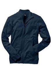 Bluza rozpinana ze stójką bonprix ciemnoniebieski