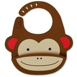 Śliniak silikonowy z kieszonką skip hop zoo - małpka