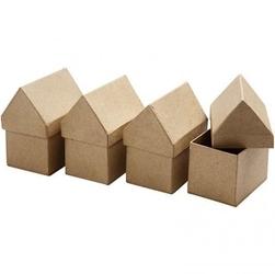 Pudełko DOMEK 6x8,5 cm - papier mache