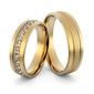 Obrączki ślubne z brylantami - au-996