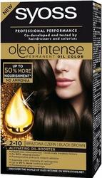 Syoss Oleo, Farba do włosów, 2-10 brązowa czerń