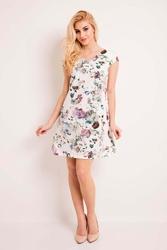 """Sukienka z kwiatowym wzorem z dekoltem """"v"""""""