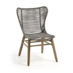 Drewniany fotel ogrodowy clube szary