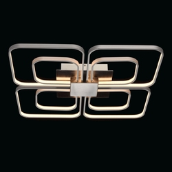 Lampa sufitowa led w kształcie kwadratu chrom i srebro regenbogen techno 496013108