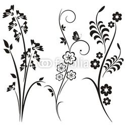 Fotoboard na płycie japońskie wzory kwiatowe