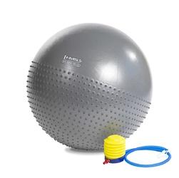 Piłka gimnastyczna masująca yb03 65 cm szara - hms