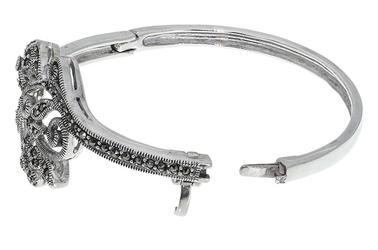 Elegancka srebrna bransoletka z markazytem