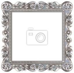 Naklejka kadrowa barokowy carré argenté