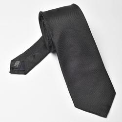 Czarny krawat jedwabny prosty splot