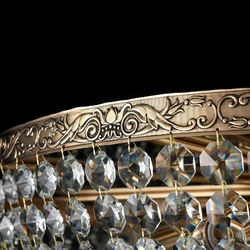 Lampa sufitowa kryształowa, antyczne złoto palace maytoni classic dia891-cl-14-g