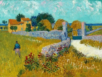 Farmhouse in provence, vincent van gogh - plakat wymiar do wyboru: 91,5x61 cm