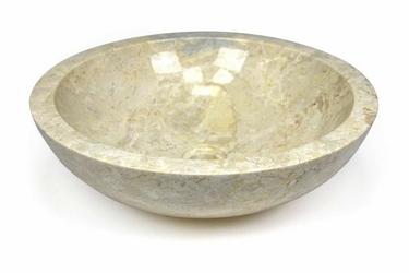 Umywalka nablatowa z polerowanego marmuru