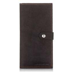 Skórzany portfel damski etui na karty slim wallet brodrene sw09 czarny