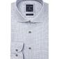 Biała koszula profuomo w geometryczny wzór regular fit 42