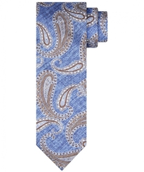 Błękitny krawat  profuomo 100 jedwab