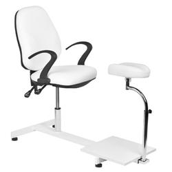 Fotel kosmetyczny hyd. spa 218 pedi biały