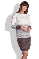 Espresso sukienka sweter w warkocze