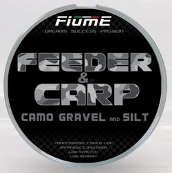 Żyłka fiume feeder  carp camo gravel 200m 0,28mm