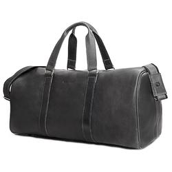 Skórzana torba podróżna na ramię brodrene r20 grafit smooth leather