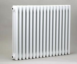 Grzejnik pokojowy retro - 3 kolumnowy, 600x600, białyral - biały