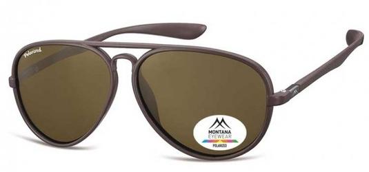Okulary aviator pilotki montana mp29a brązowe matowe