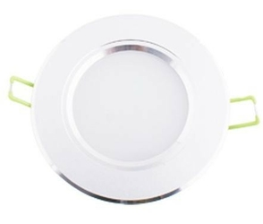 Oprawa sufitowa downlight led 3w - 3000k - biały ciepły biała obudowa