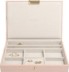 Szkatułka na biżuterię   stackers croc classic różowa z pokrywką