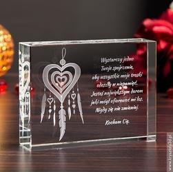 Medalion miłości 3d ♥ personalizowana statuetka 3d duża • grawer 3d