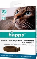 Happs obroża przeciw pchłom i kleszczom dla kotów, 1 sztuka