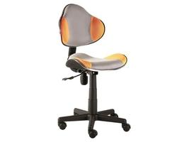Fotel obrotowy q-g2 szaro-pomarańczowy