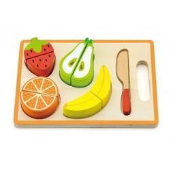 Owoce na desce zabawka drewniana