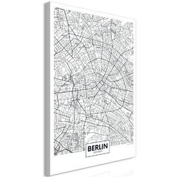 Obraz - mapa berlina 1-częściowy pionowy