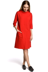 Sukienka oversize w sportowym stylu czerwona m353
