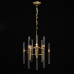 Lampa wisząca 3-żarówki, szklane tuby alghero mw-light classic 285010703