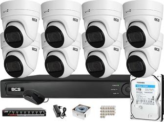 Zestaw monitoringu bcs view rejestrator ip 8x kamera 4 mpx bcs-v-ei436ir3