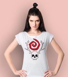 True detective - czacha t-shirt damski biały xs