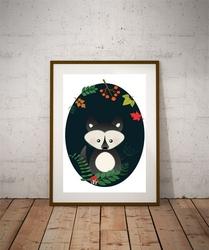 Wilk ciemne tło - plakat Wymiar do wyboru: 42x59,4 cm