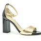 Sandały anis 4696 złoto 3 czarny lakier