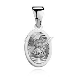Srebrny medalik matka boska częstochowska