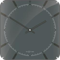 Zegar ścienny michael square dome szary