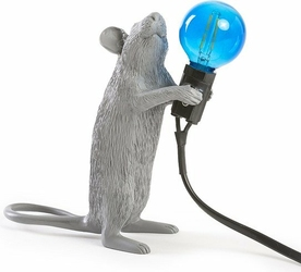 Lampa Mouse szara stojąca
