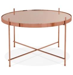 Okrągły stolik kawowy espejo medium  miedziany