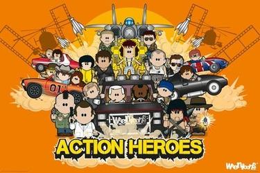 Weenicons - action heroes - plakat