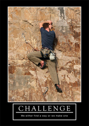 Challenge - We either find a way or we make one - plakat motywacyjny