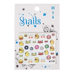 Naklejki na paznokcie dla dzieci snails - quack quack