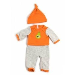 Ubranko dla lalki 40 cm pomarańczowa piżamka