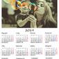 Twój kalendarz na 2019 rok Wymiar do wyboru: 40x60 cm